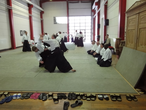 Action im Dojo der Aikido Schule Hamburg