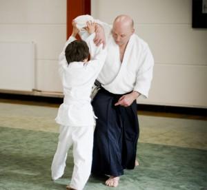 Lothar beim Kinder-Aikido