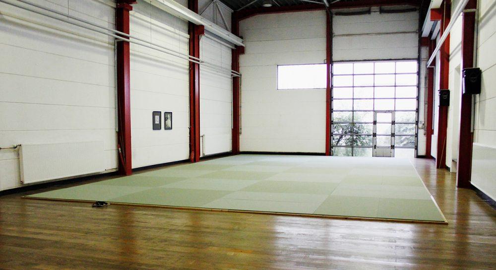 Neue Matte in der Aikido Schule Hamburg